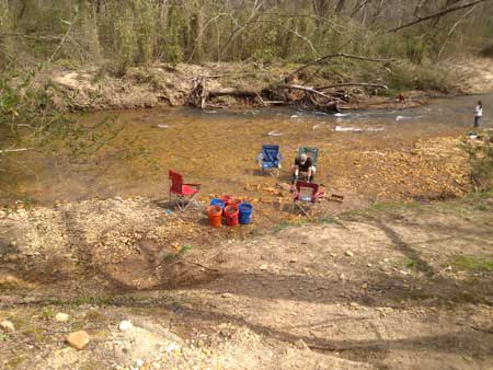 Setup In the creek