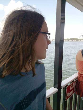 Aidan on the Pirate ship