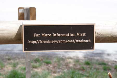 Track Rock for more information sign