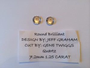 Faceted Gemstones Round Brilliant Cut Quartz