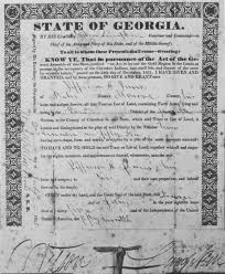 1832 Gold Lottery Land Deed