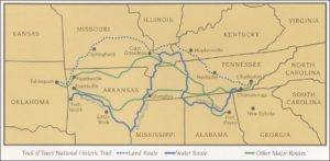 1832 Gold Lottery Trail of Tears