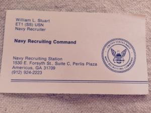 Reccruiting Duty Business Card