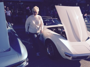 Suwanee Classic Car Show Lana with 1971 Corvette