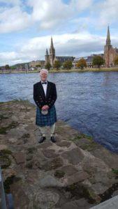 William Stuart dressed in his kilt