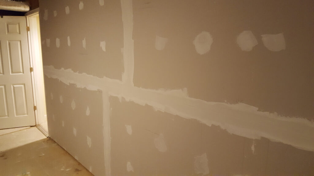 Wall with Tape and Mud