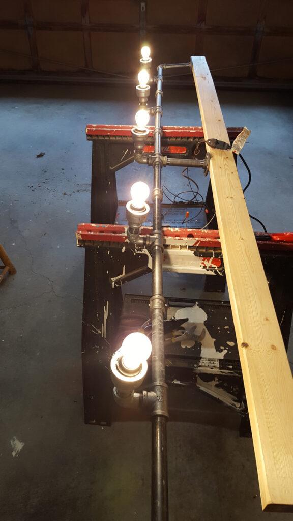 Light fixture electrical test